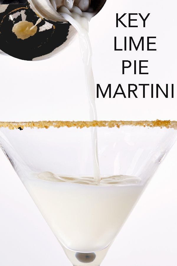 Want to drink your dessert? We couldn't think of a tastier and easier way than with this Key Lime Martini, a sweet and zesty combination of cake-flavored vodka, lime juice and liqueur. #BiteMeMore #martini #recipes