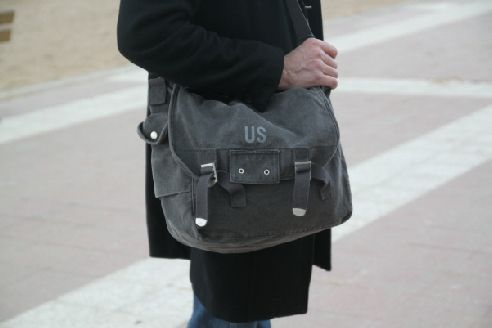 sac homme toile