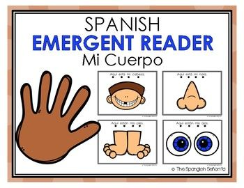 "Spanish Emergent Readers - The Body ""El Cuerpo""  This Emergent Reader Pattern Book was created to build confidence in our emerging readers, learn to read syllables fluently, sight words as well as one-to-one word correspondence.   Keywords: Cuerpo, Body, Spanish Emergent, Guided Reading Books, Spanish Books, Libros de la Lectura Guiada"