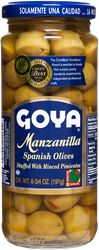 Manzanilla Olives stuffed with Minced Pimientos