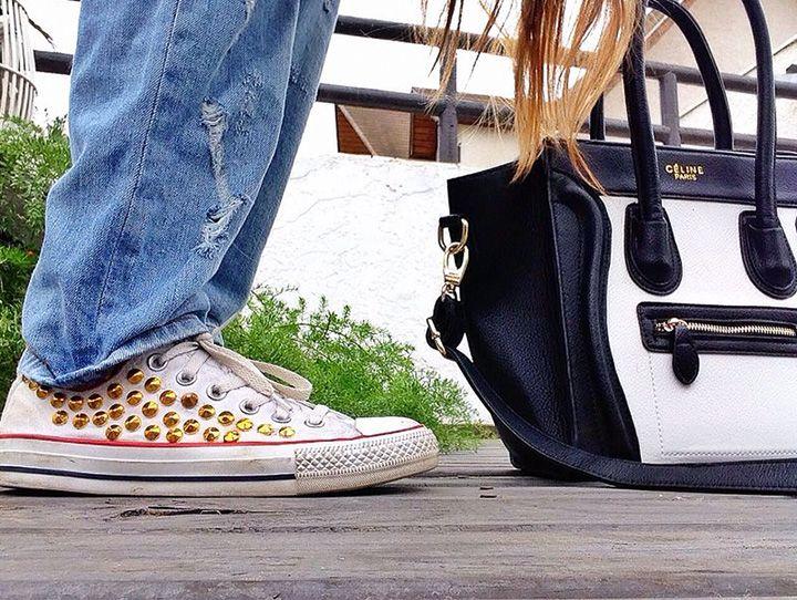 cartera: celine zapatillas : converse