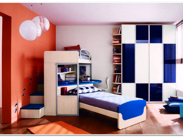 Kids Rooms Fantastic Kids Bedroom Design Idea With White Furniture With  Blue Accents Red White Wall
