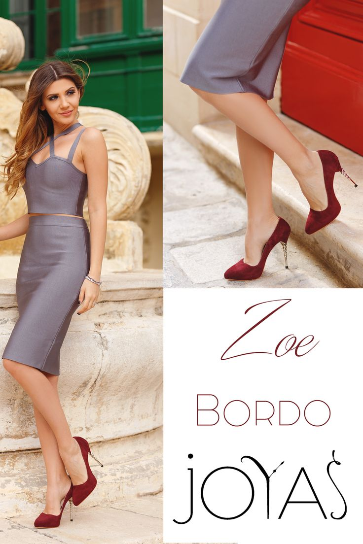 The suede luxury Zoe shoes in bordo shades will add sophisticated and elegant notes to you NYE look @j