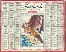 CALENDRIER ALMANACH des  PTT - 1947 DESCENTE EN CANOE