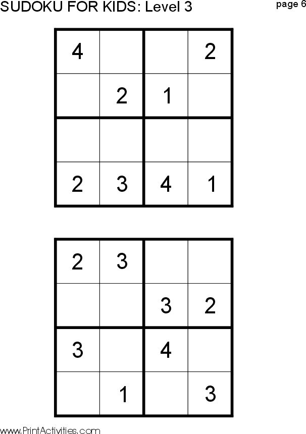 It's just an image of Bewitching Sudoku for Kids Printable