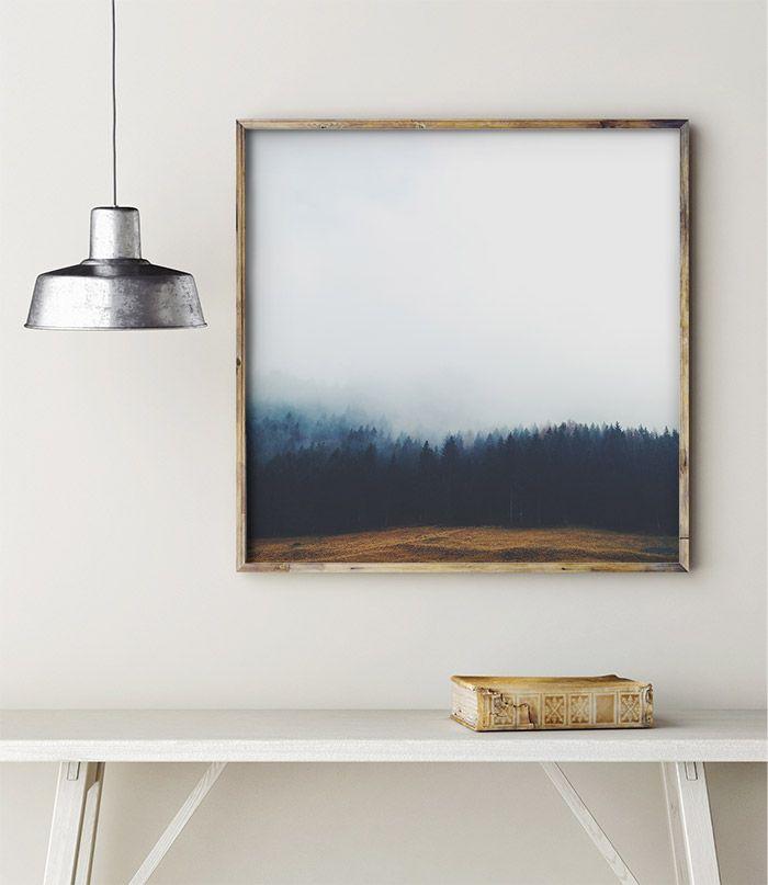 Poster Skog och Dimma