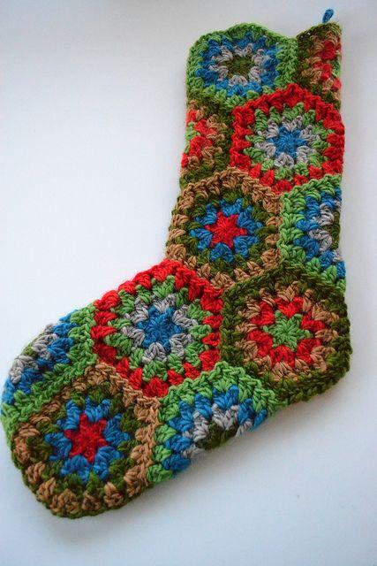 Granny Square Christmas Stockings Crochet for Christmas ...