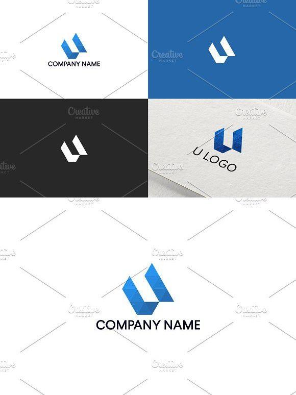 letter u logo design free update business logo template design