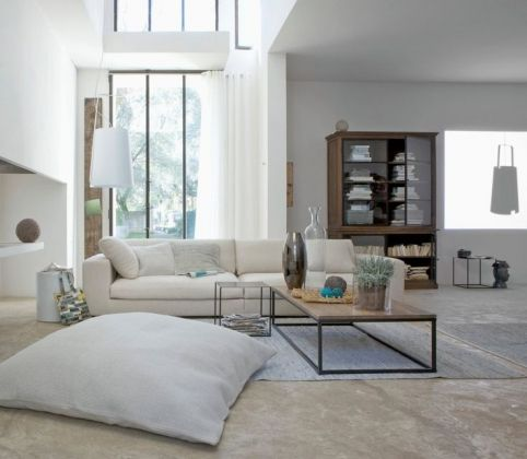 Salon blanc, esprit lounge