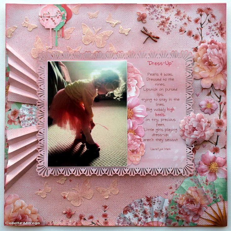 'Dress Up' Layout Collette Mitrega DT Kaisercraft using Cherry Blossom Collection - Scrapbook Pages 1.