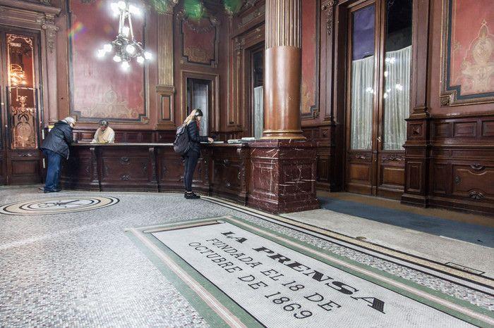 Hall del diario La Prensa