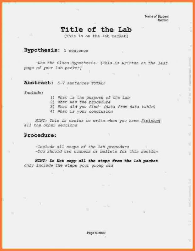 Chemistry Lab Report Template template Lab report template, Lab