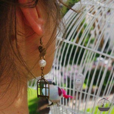 Boucles d'oreilles UN OISEAU DE PARADIS