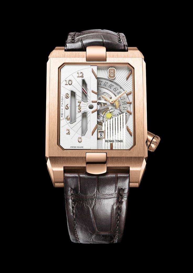 Harry Winston [NEW] Avenue Dual Time Automatic AVEATZ37RR001 (Retail:US$38,300) ~ Special Offer: HK$199,000.