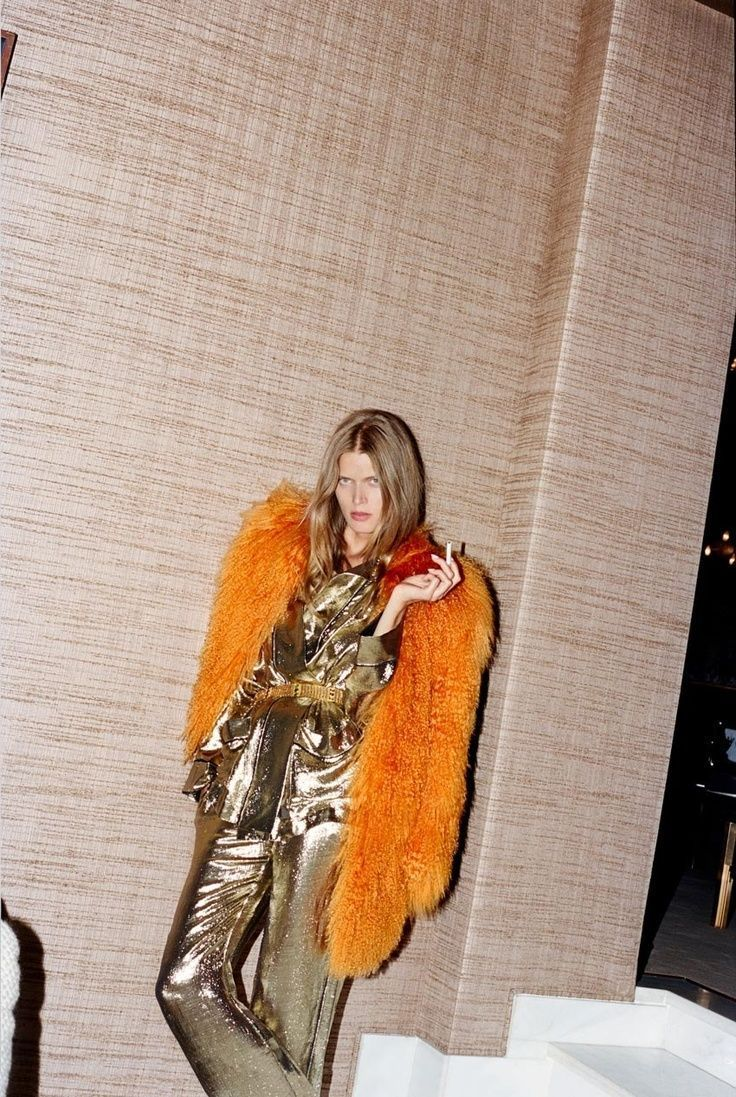 gold suit + fur                                                                                                                                                                                 More