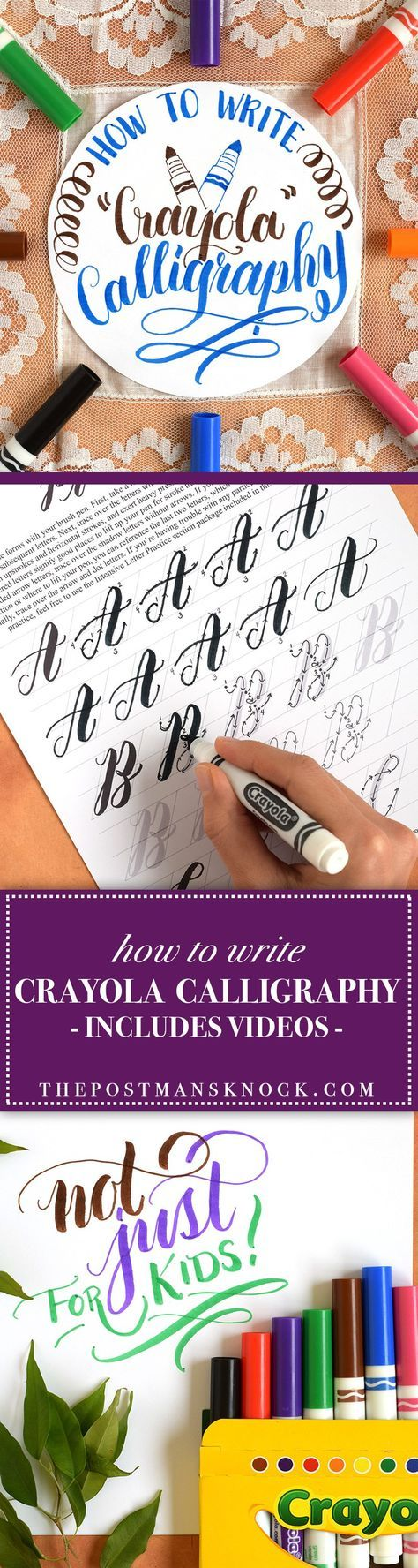 """For when you want to add words to your work. How to Write """"Crayola"""" Calligraphy   The Postman's Knock"""