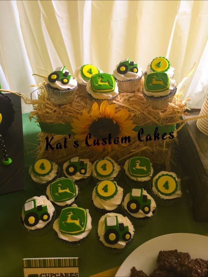 Cupcakes at a John Deere birthday party! See more party ideas at CatchMyParty.com!