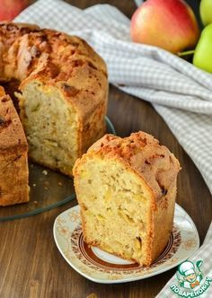 Нежный яблочный кекс - кулинарный рецепт