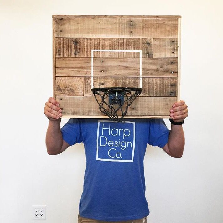 Clint Harp Design Co. reclaimed wood basketball hoop