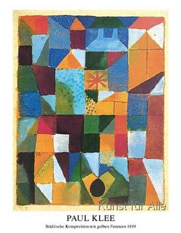 Paul Klee - Städtische Komposition mit gelben Fenstern
