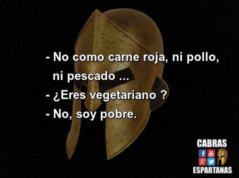 Vegetariano no soy, soy pobre