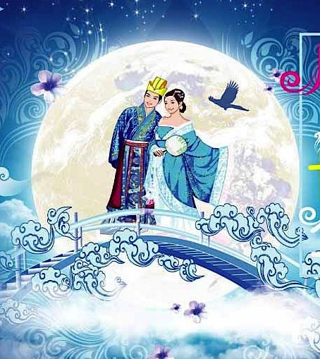 Zhi Nu chinese mythology | chinese mythology | Journeying to the Goddess Zhi Nu and her husband Niu Lang on the seventh day of the seventh month when they are allowed to see each other again.