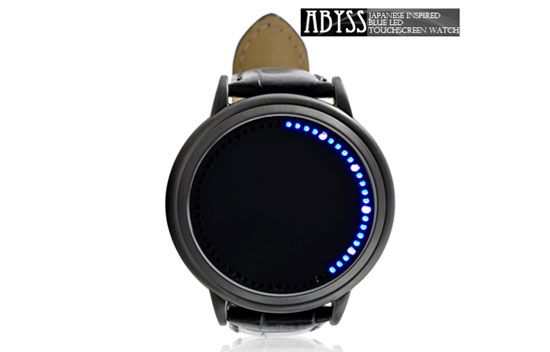 25 Amazing Gadgets To Make Your Life More Interesting, Blue LED touchscreen watch