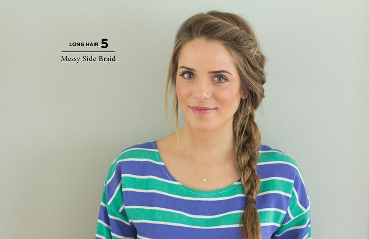Messy side braid.... I wish my hair was thick enough to do this