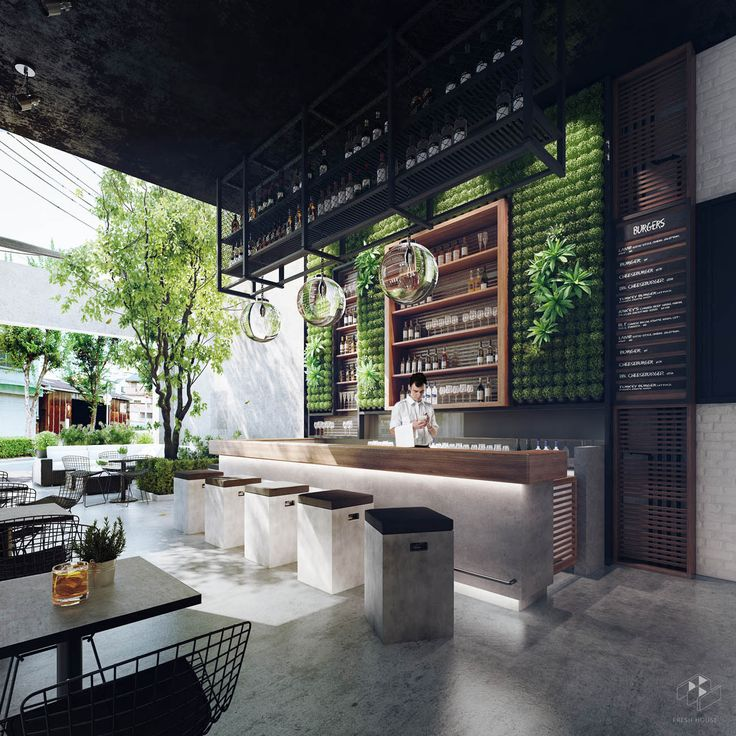 Commercial Walls Landscape Design: The Cube Bar, Ho Chi Minh, Vietnam