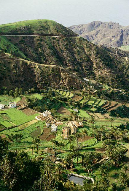 farms, Vallehermoso, La Gomera, Canary Islands, Spain | Bengt Hedberg via Johnér
