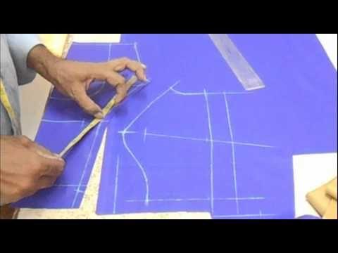 ▶ How To Cut Plain Blouse:Priences Cut Blouse(plain choli) Cutting Method - YouTube