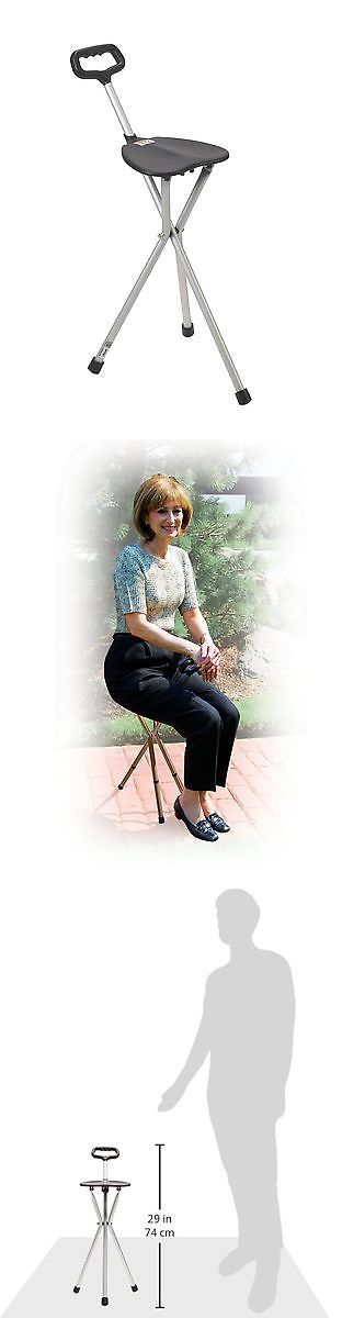 Walkers and Canes: Drive Medical Deluxe Folding Cane Seat Black BUY IT NOW ONLY: $300.0