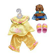 "My First Disney Princess Belle's Royal Sleepwear Toddler Doll Outfit Fits 15"" Doll by Tolly Tots. $29.68. Includes matching slippers and character driven pancake plush.. Disney toddler doll. Disney Princess themes outfits for use with ""My First Disney Princess"" Toddler Dolls or any 14"" doll - each sold seperately. From the Manufacturer Disney Toddler Outfit - Belle. Disney Princess themes outfits for use with ""My First Disney Princess"" Toddler Dolls or..."