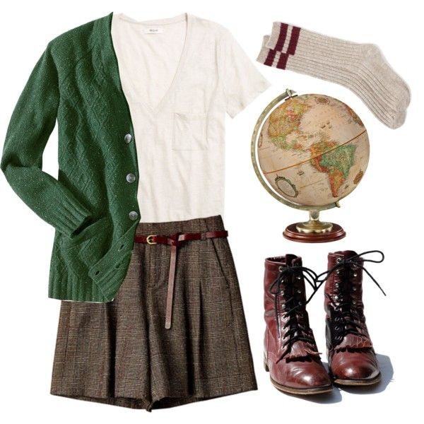 Untitled #99..........If those are shorts then I love this outfit!