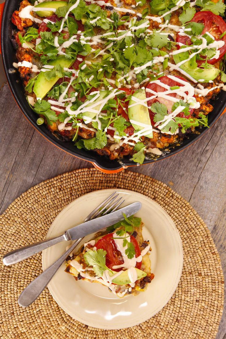 Jake Smollett's chicken taco lasagna is everything you're looking for in a dinner: Easy, tasty and requires a lot of hot sauce.