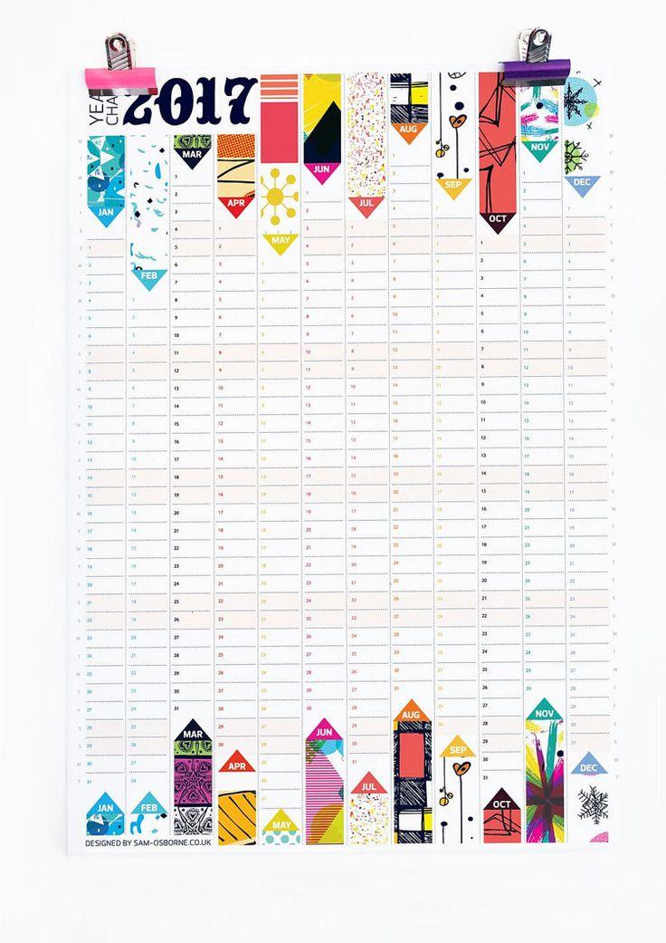 Wand-Planer 2017 Kalender Büro Veranstalter von SamOsborneStore