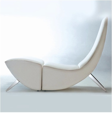 The Fishtale - a chair and ottoman or a one piece chaise lounge.