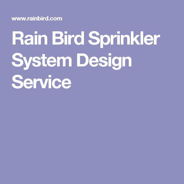 Rain Bird Sprinkler System Design Service