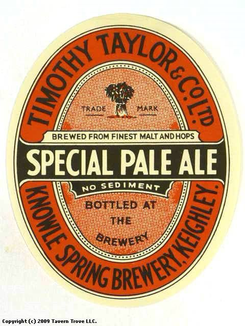 Special Pale Ale Timothy Taylor & Co., Ltd. Knowle Spring Brewery Keighley West Yorkshire England