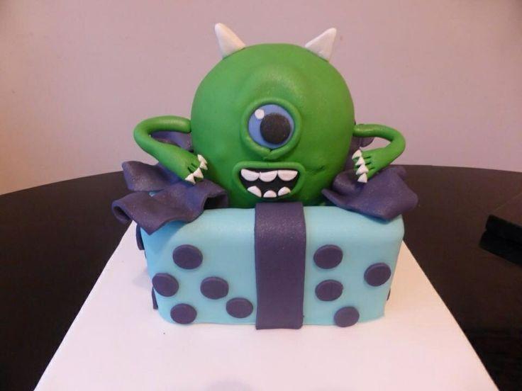 Monsters Inc Mike Wazowski birthday cake