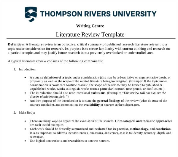 Literature Review Template Is An Inevitable Part Of Any Study Be It A Research Paper Or A Fictional Wri Literature Review Outline Literature Academic Calendar