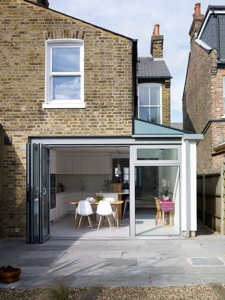 A light filled extension homebuilding renovating for Terrace kitchen ideas