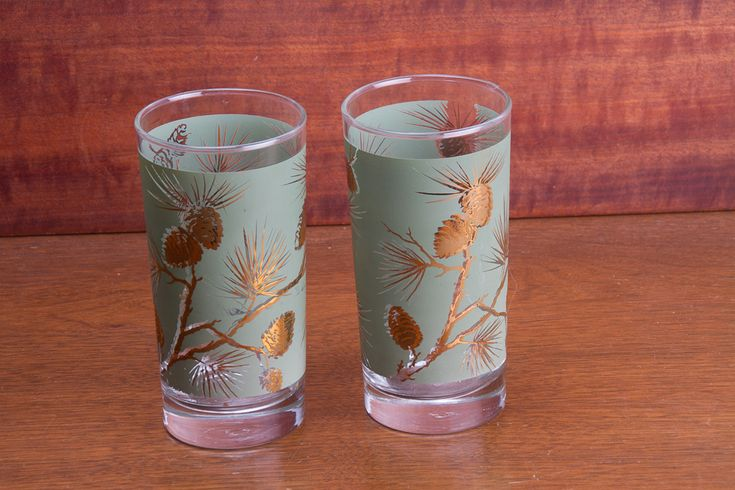 Libbey Pine Cone Tumblers