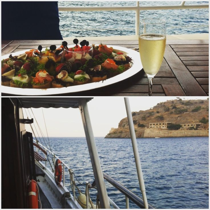Spend the evening sailing on our #traditional #caique surrounded by the breathtaking natural beauty of the coast line of #Elounda and #Spinalonga Island. Set off from the hotel's own jetty with chilled champagne and the chef's treat of canapés with local indigenous flavors! #MemorableExperience