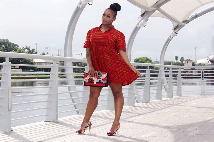 Red African Print Mini Dress, African Ankara Print Short Dress, Ankara  Fabric Mini Dress, Blue Handmade Dress by ZabbaDesigns on Etsy