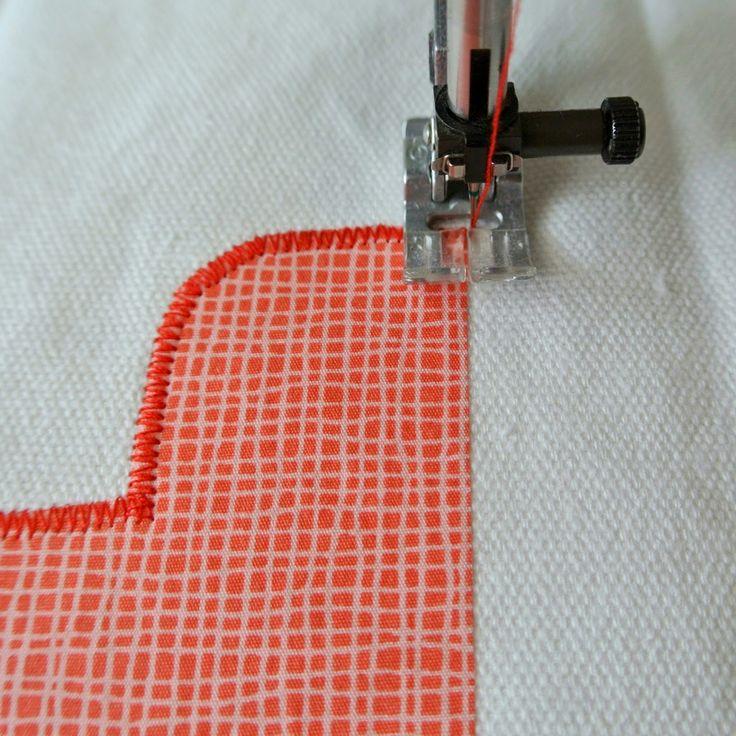 Instellingen naaimachine bij applicaties opnaaien