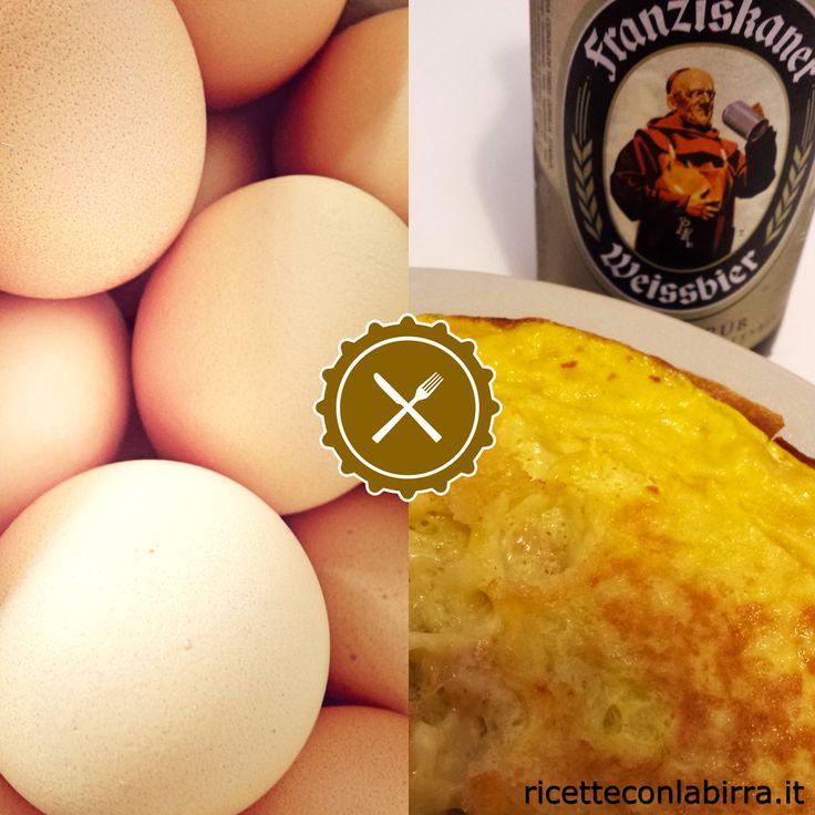Omelette alla birra weiss Franziskaner e formaggio http://ricetteconlabirra.it