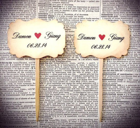 Personalised cupcake toppers - see more ideas at http://themerrybride.org/2014/09/06/ideas-for-personalising-your-wedding/