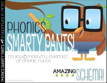 PHONICS SMARTY PANTS - This is an EXCELLENT culminating activity for a first grade year. Students review and exemplify their master of many phonic rules covered during a year of 1st grade curriculum.