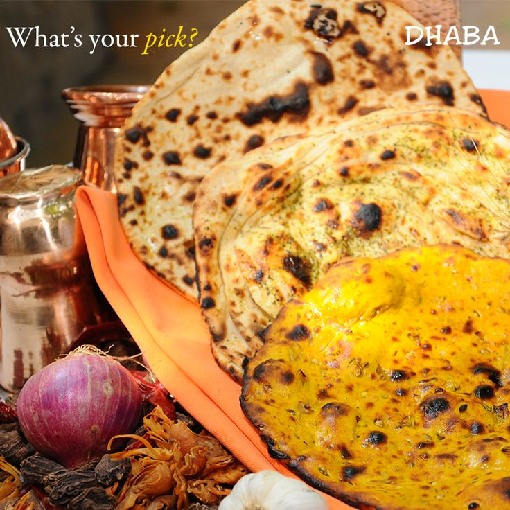 The assorted bread basket makes for the perfect accompaniment to Dhaba delicacies!